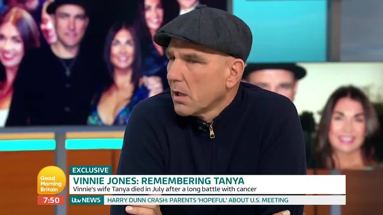Vinnie Jones praised after 'heartbreaking' Good Morning Britain interview about wife Tanya's death