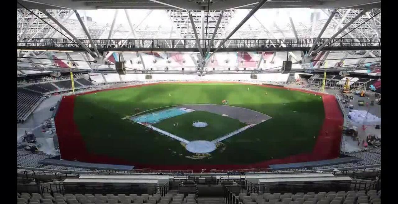 Amazing time-lapse video shows London Stadium transform from West Ham home to hosting Muse, MLB and athletics