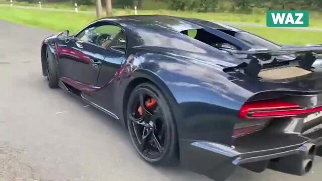 Mit diesem Bugatti fuhr der Wolfsburger Testfahrer Michael Bode 447 km/h schnell