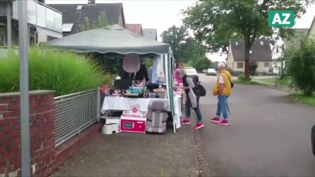 Zahlreiche Besucher stöberten auf dem Straßenflohmarkt in Hoitlingen