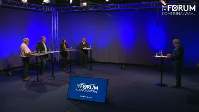 HAZ/NP-Forum zur Bürgermeisterwahl in Springe 2021