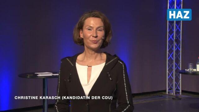 Christine Karasch, Kandidatin für das Amt der Regionspräsidentin bei der Kommunalwahl 2021