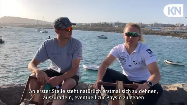 Das Nacra17-Duo Paul Kohlhoff und Alica Stuhlemmer berichtet über die Regatta in Lanzarote