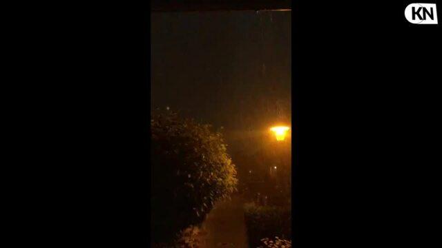 Schweres Gewitter über Kiel