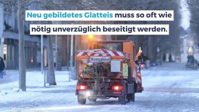 Schneefall: Diese Pflichten haben Anwohner