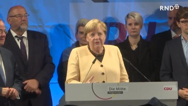 Pfiffe und Buhrufe: Merkel wirbt in ihrem Wahlkreis für Laschet