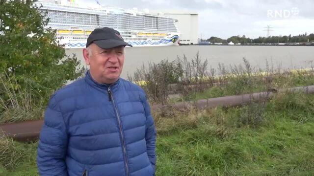 """Neues Kreuzfahrtschiff """"Aidacosma"""" auf dem Weg zur Nordsee"""