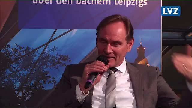 Leipzigs OBM Jung im LVZ-Talk