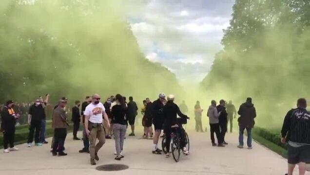 Dynamo-Fans im Großen Garten