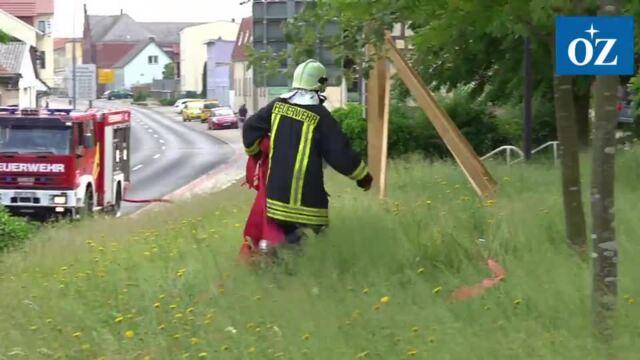 Brand St. Jürgen Kapelle Wolgast (Video Tilo Wallrodt,13.06.2021)