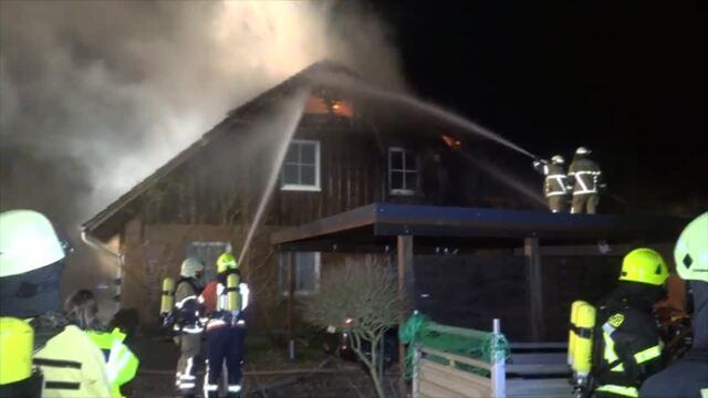 Dachstuhlbrand in Petersdorf auf Fehmarn
