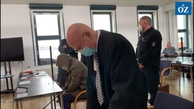 Zweiter Tag im Revisionsprozess im Mordfall Leonie am Landgericht Neubrandenburg (Video Tilo Wallrodt, 8.02.2021)