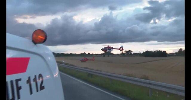 Horrorunfall bei Ribnitz-Damgarten (Video: Stefan Tretropp | 01.08.2021)