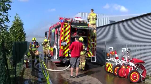 Feuer in Lagerhalle in Ratzeburg