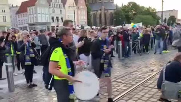 Empor Rostock im Aufstiegsjubel