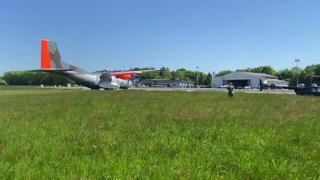 Transall verabschiedet sich mit Flug über Ostseeflughafen Stralsund-Barth (Video: Anja Krüger | 03.06.2021)