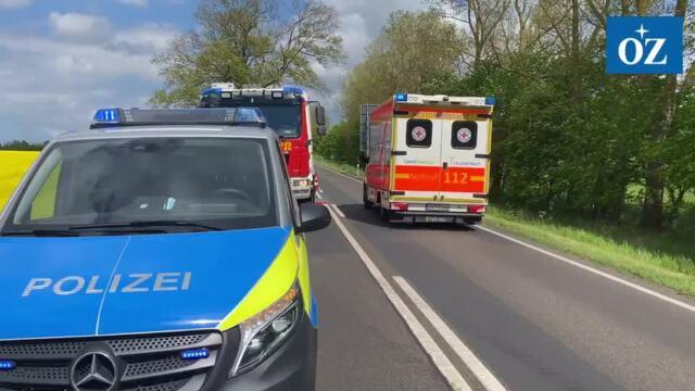 Schwerer Verkehrsunfall bei Wolgast mit mehreren Verletzten - Video Tilo Wallrodt,20.05.2021
