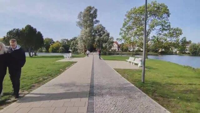 Mit dem E-Roller durch Stralsund: Kurze Testfahrt