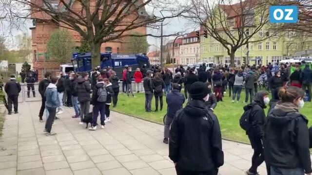 NPD-Demo in Greifswald blockiert