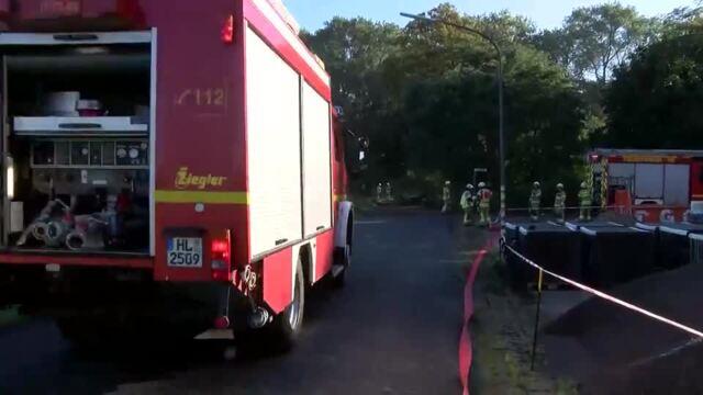 Waldbranduebung Luebeck