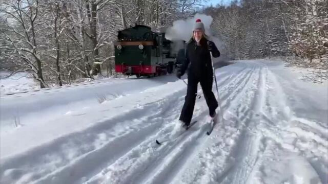 Rügens Loipe im Test: Langlauf in der Granitz (Video: Thomas Pult | 10.02.2021)