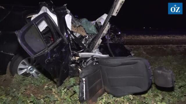Schwerer Verkehrsunfall bei Rubenow (Video Tilo Wallrodt,24.2.2021)