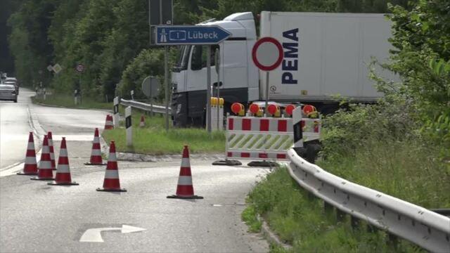 Hitzeschäden: A1 bei Scharbeutz gesperrt