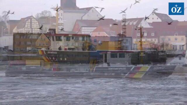 Eis auf dem Peenestrom wird gebrochen (Video Tilo Wallrodt, 8.2.2021)