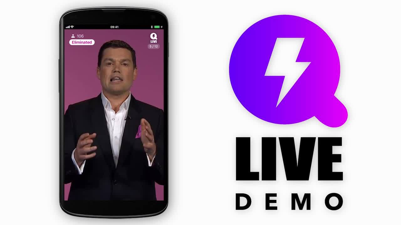 Q LIVE is the ultimate free gameshow app – just answer 12 questions