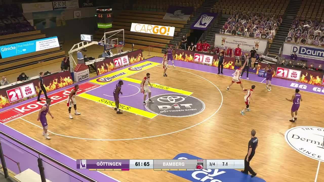 MagentaSport Highlights: BG Göttingen - Brose Bamberg 2020/21