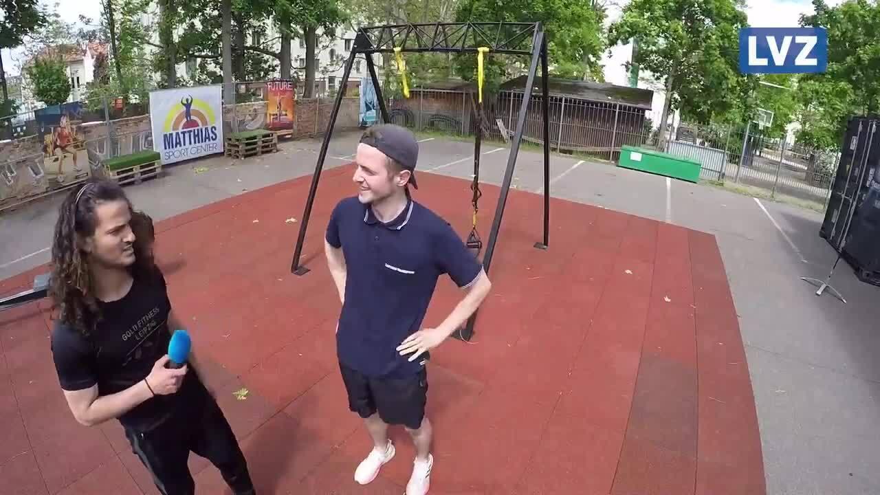 """""""Fit mit der LVZ"""" (Folge 19): Im Outdoor-Fitnessstudio"""
