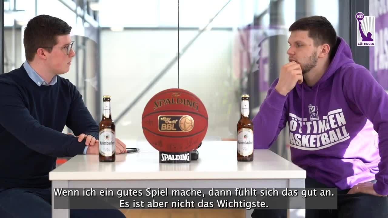 GT-Talk mit Rihards Lomazs nach dem Spiel gegen die MHP RIESEN Ludwigsburg