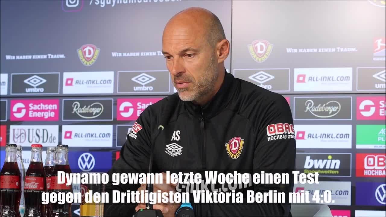 Dynamo-Trainer Schmidt über die Testspielpleite der Nürnberger
