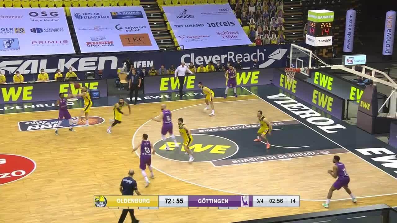 MagentaSport-Highlights: EWE Baskets Oldenburg - BG Göttingen