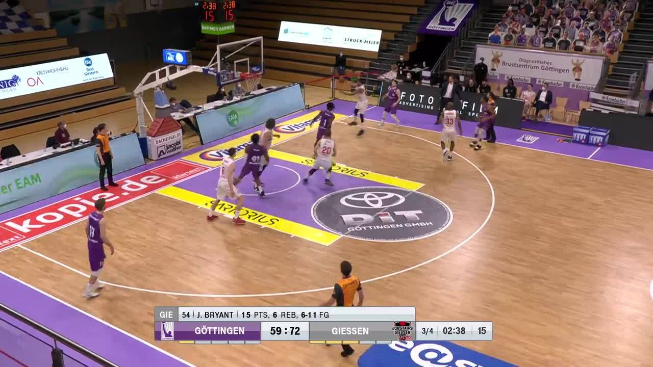 MagentaSport-Highlights: BG Göttingen - Jobstairs Giessen 46ers
