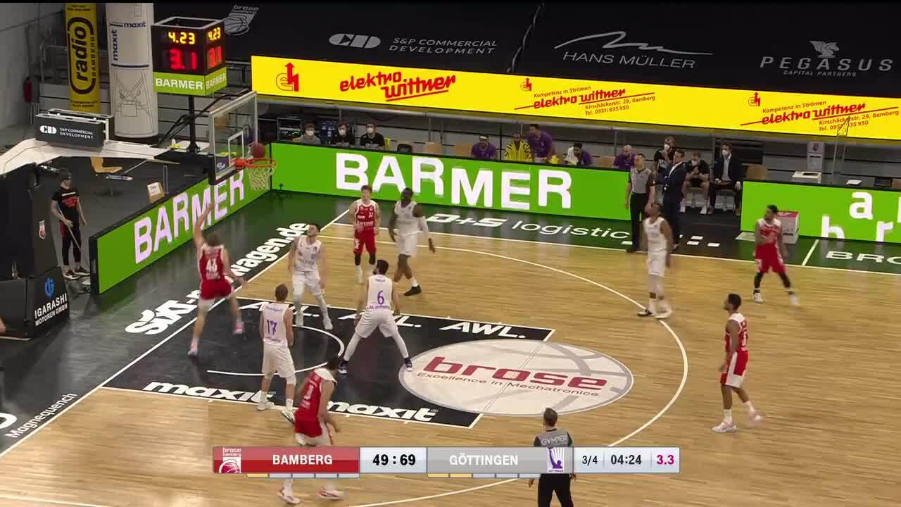 MagentaSport-Highlights: Brose Bamberg - BG Göttingen