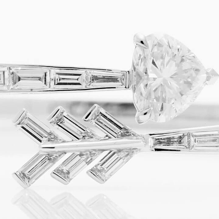 Duet Arrow Wraparound Diamond Bangle