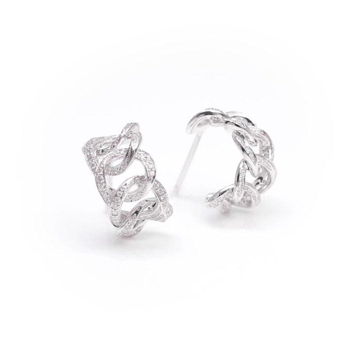 Inspired by Twombly Diamond Hoop Earrings
