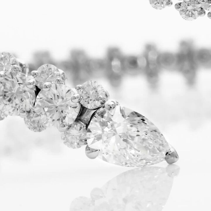 Duet Wraparound Diamond Bangle