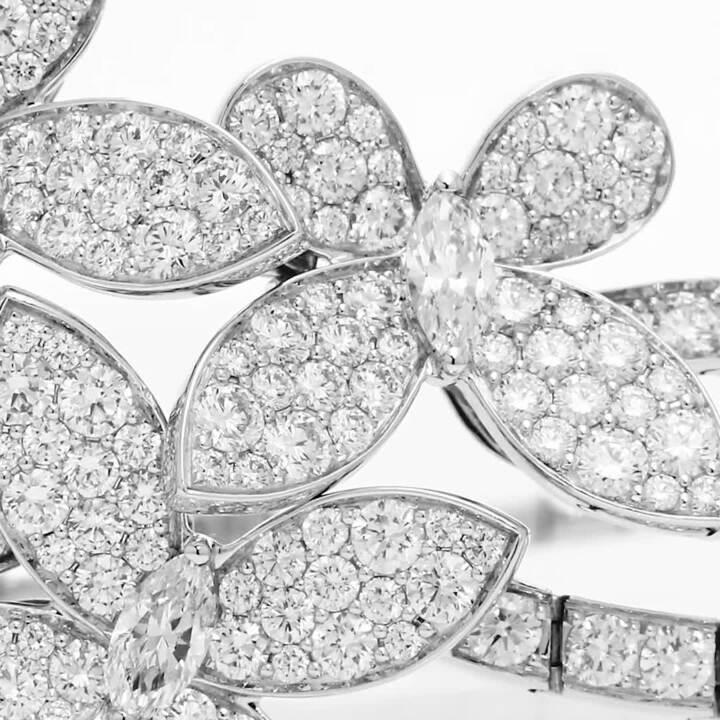 Triple Pavé Butterfly Diamond Bracelet