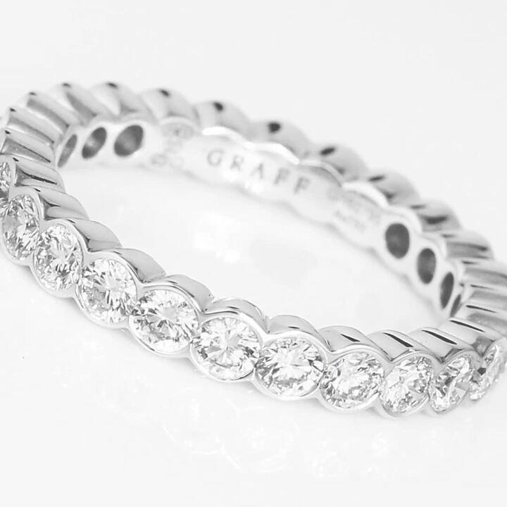 Bezel Set Round Diamond Wedding Band