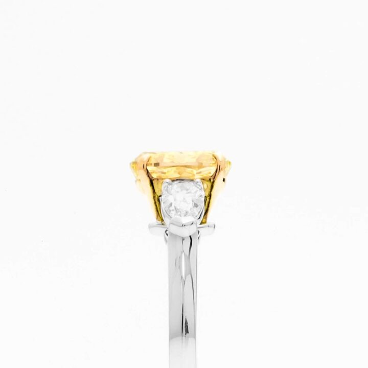 Promise Oval Yellow Diamond Engagement Ring