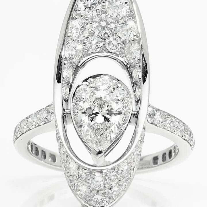 Graff Gateway Pear Shape Diamond Ring