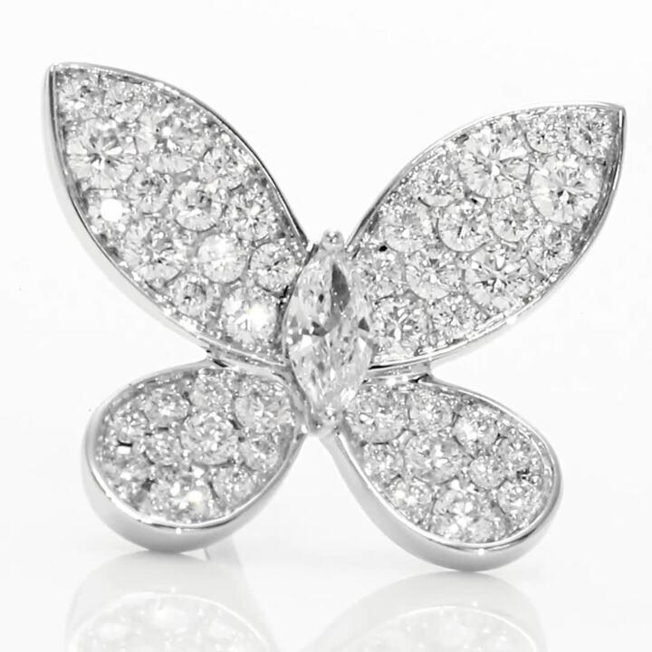 Mini clous d'oreilles en diamants Pavé Butterfly