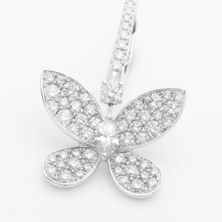Pavé Butterfly Diamond Drop Earrings