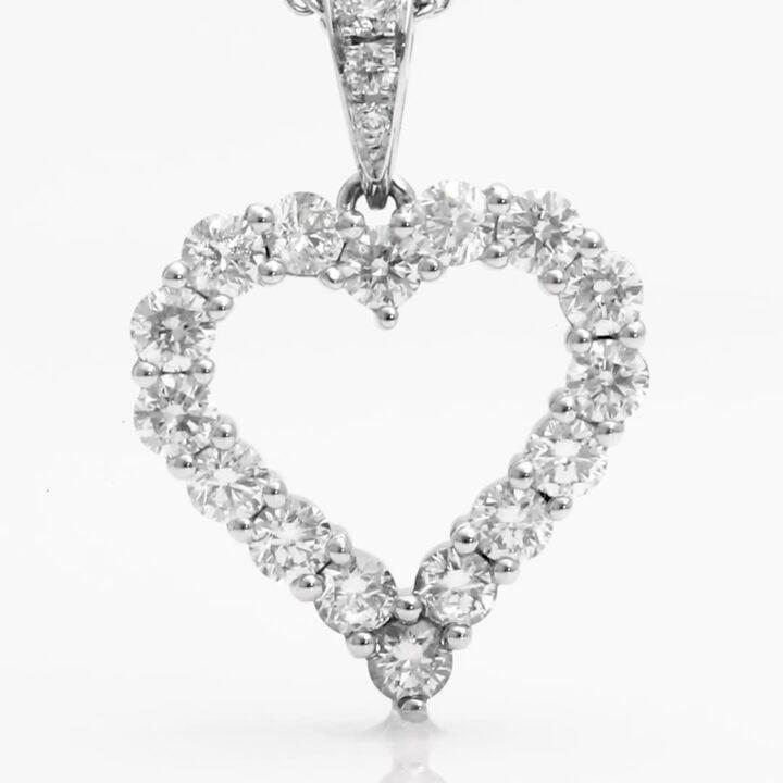 Diamond Heart Silhouette Pendant