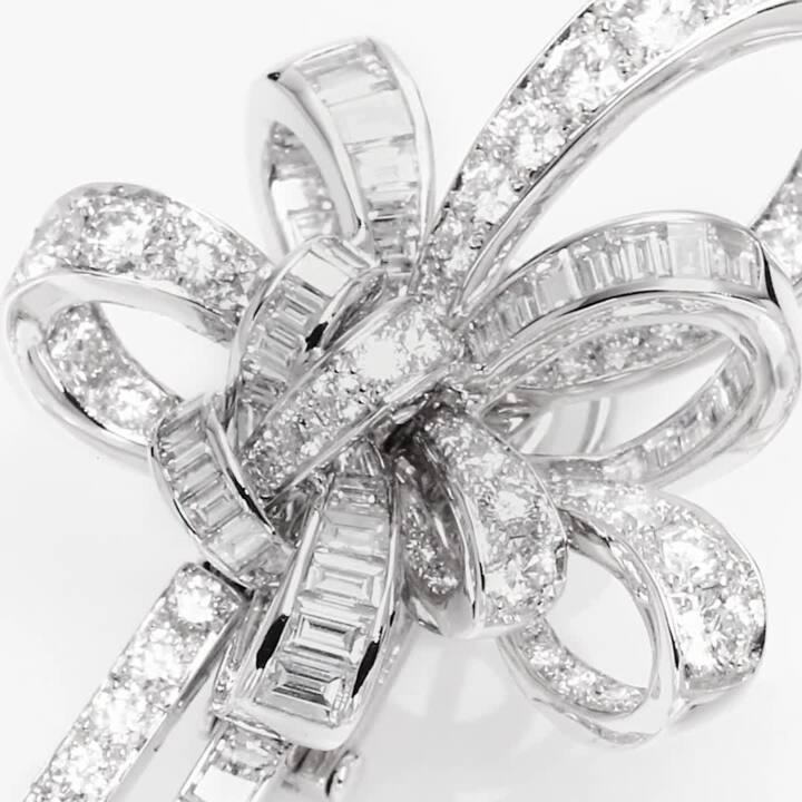 Tilda's Bow Double Diamond Drop High Jewellery Earrings