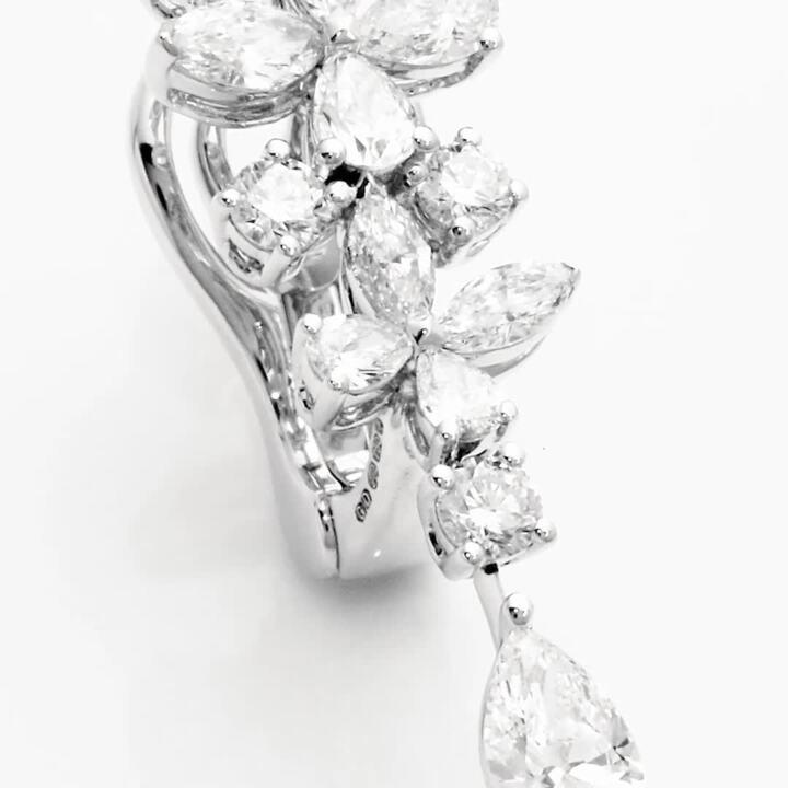 Classic Butterfly Diamond Drop Earrings