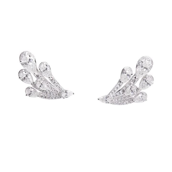 Duet Diamond Stud Earrings