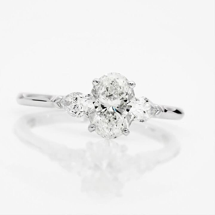 Promise Oval Diamond Engagement Ring